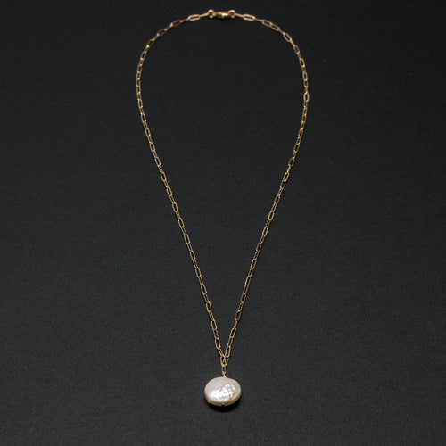 CLASSICAL PEARLS - COIN PEARL NECKLACE