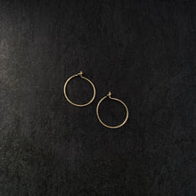 "Load image into Gallery viewer, ""piccola"" - artisanal hammered hoops"