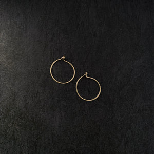"""piccola"" - artisanal hammered hoops"