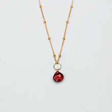 Load image into Gallery viewer, july birthstone - ruby - charm necklace