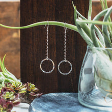 Load image into Gallery viewer, eternity chain drop earrings