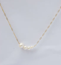 Load image into Gallery viewer, graduated pearl bar necklace
