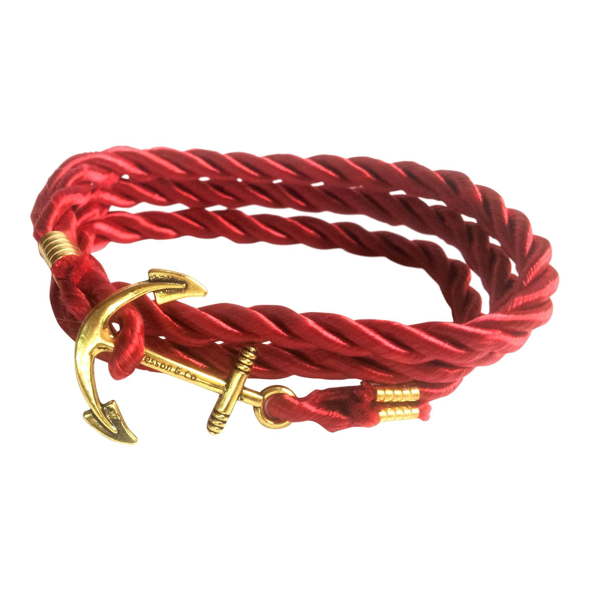 Anchor Rope Bracelet | Red