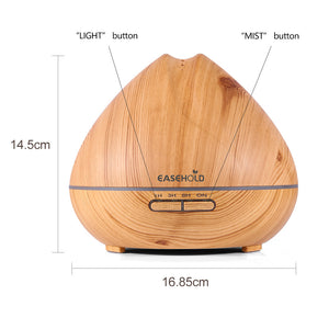 400ml Cool Mist Humidifier Ultrasonic Aroma Essential Oil Diffuser for Office Home Bedroom Living Room