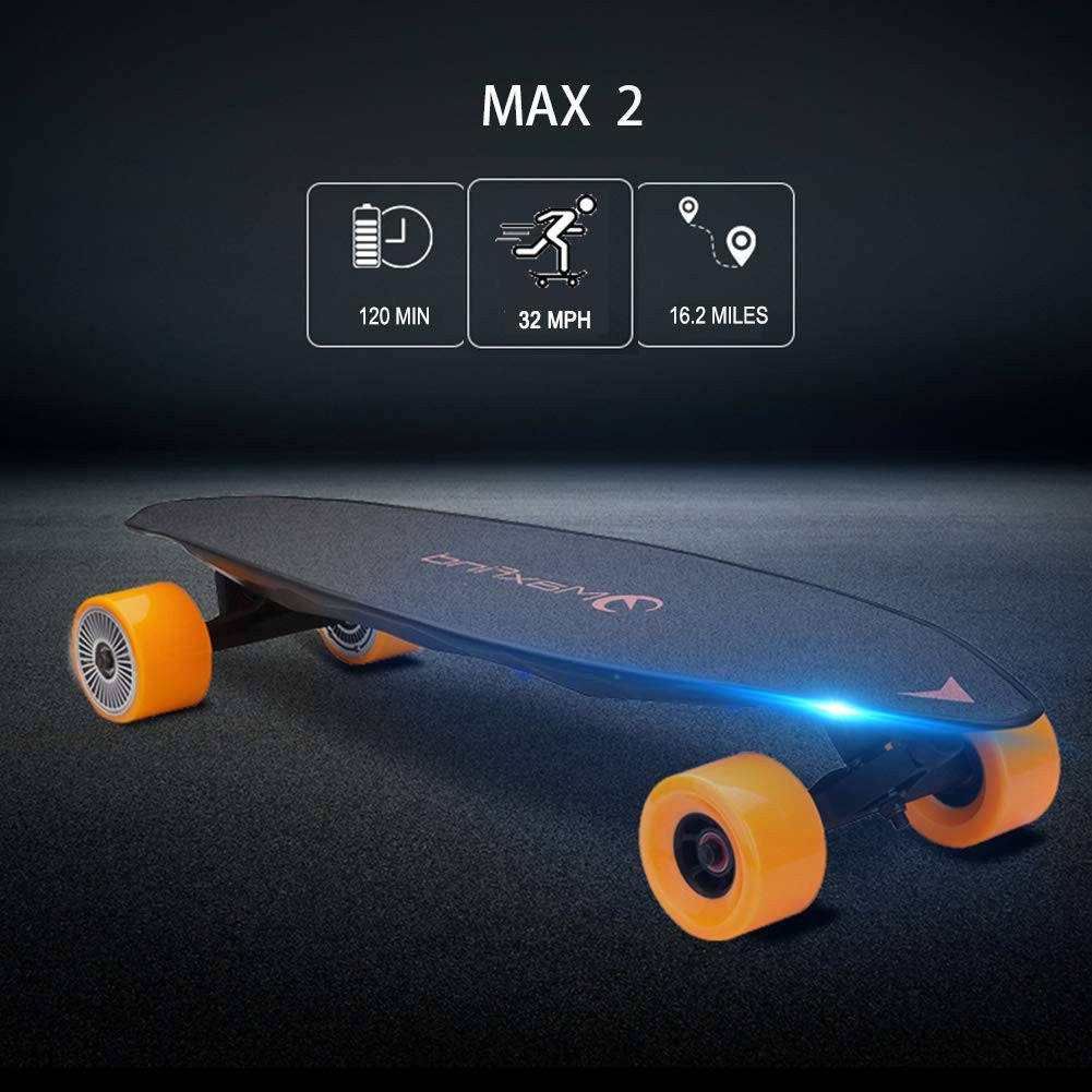 Maxfind Electric Skateboard Max 2 Wireless Remote Control Light Motorized Board