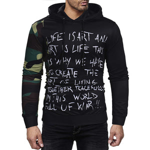 Men's Camouflage Printed Pullover