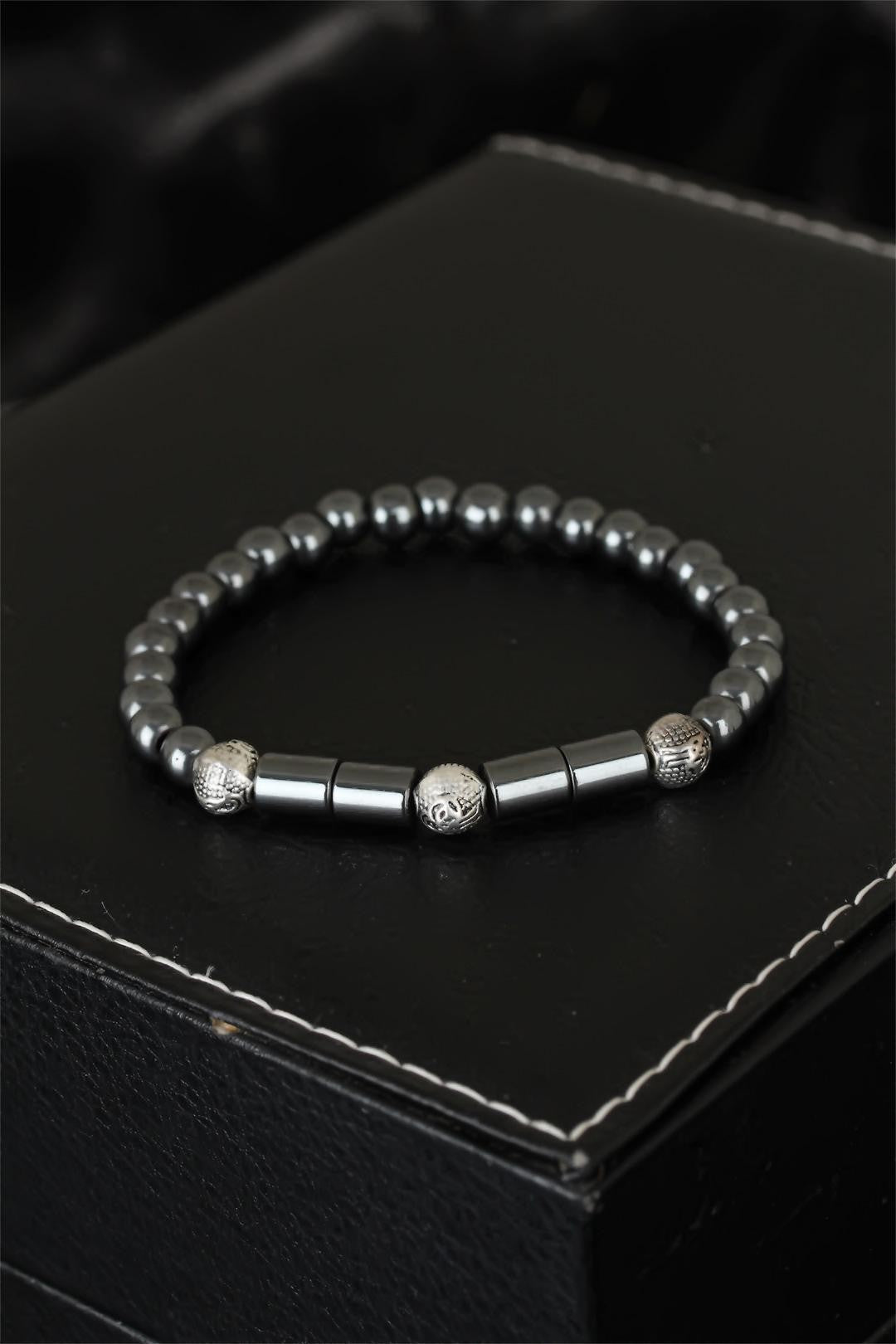 Men's Haematite Natural Stone Bracelet