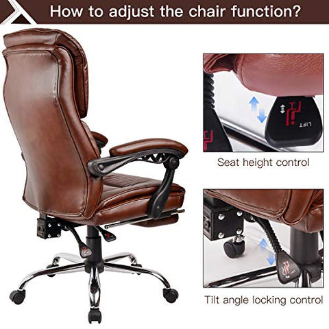 Amazing Comhoma Executive Office Chair With Footrest High Back Napping Office Chair Adjustable Reclining Computer Chair Thick Padding Ergonomic Design Ch108 Ncnpc Chair Design For Home Ncnpcorg