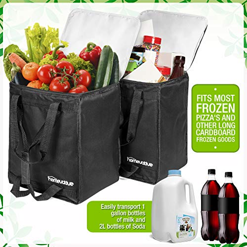 Homevative Reusable Insulated Grocery Bags Hot And Cold Food Storage For  Shopping, Travel, And More  Cooler And Thermal Tote Set  - Also Great For