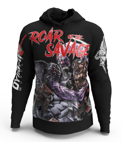 Roar of the Savage - King Kai Hoodie (Black Pullover)