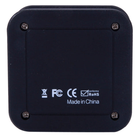 1-In 3-Out ABS SPDIF Digital Optical Audio Splitter Black