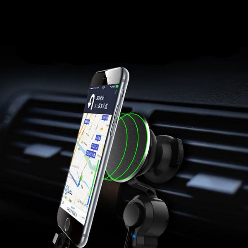 360 Degree Nanometer Magnet Car Phone Holder 3 In 1 Car Charger for iPhone Samsung Huawei Xiaomi for Air Vent