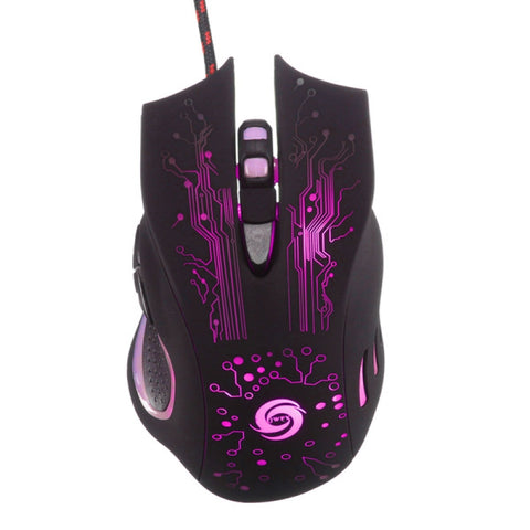 Image of 6-Key 3200dpi LED USB Wired Optical Gaming Mouse for Pro Gamer Random Delivery