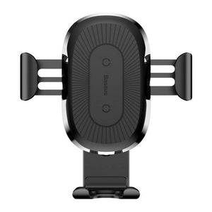 Baseus 10W Qi Wireless Fast Charging Gravity Auto Lock Air Vent Car Phone Holder Stand for iPhone Samsung - Black