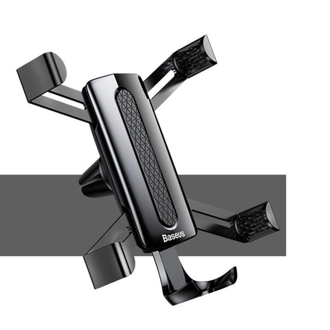 Baseus Spider Man Gravity Auto Lock Car Phone Holder Air Vent Stand for iPhone Samsung - Black