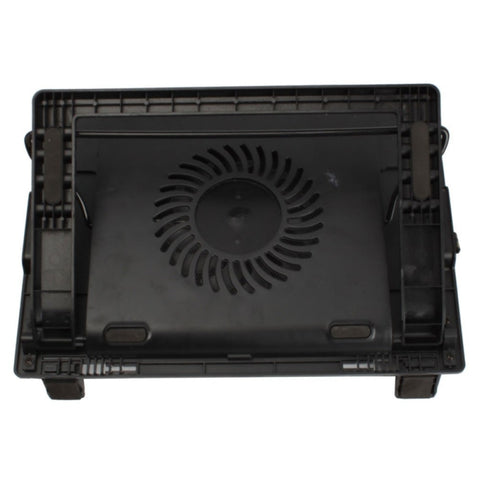 "New USB Notebook Computer Cooling Pad Quiet Fans 9-17""Adjustable Black"