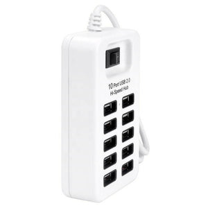 Cwxuan High Speed 10 Ports USB 2.0 HUB White (95cm)