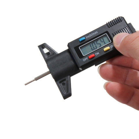 Car Tire Tread Depth Tester LED Digital Measurer