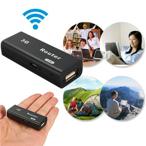 Image of M1 Portable 3G WiFi Hotspot IEEE802.11b/g/n 150Mbps RJ45 USB Router Black