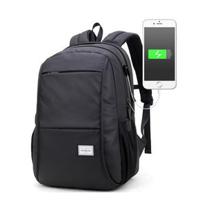 Man Computer Rucksack Travel Waterproof Backpack with USB Port