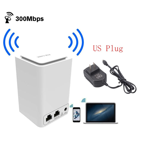 Image of Wireless Router WiFi Mini Signal Relays 300M 2.4 Ghz wi - fi 802.11 b / g / n Router (US Plug)