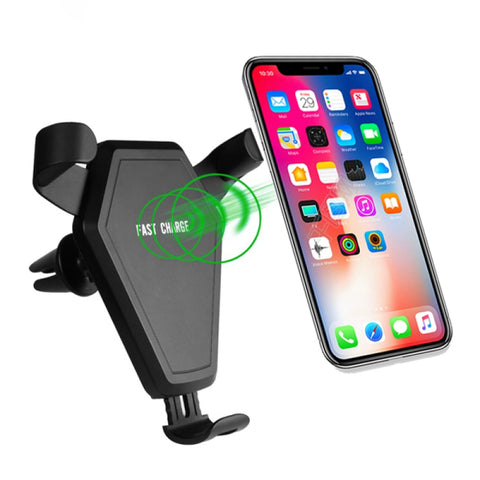 Image of Qi Wireless Car Charger Air Vent Holder For iPhone X 8 8Plus Samsung S8 Note 8