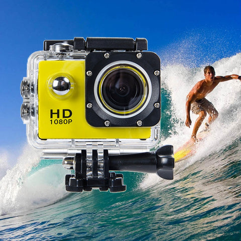 Image of SJ4000 720P HD DVR Video Waterproof Sport Camera-US Plug, Yellow