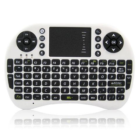 Image of UKB-500-RF Multi-functional 2.4G Wireless Mini Air Mouse Keyboard White + Black