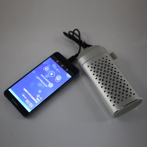 Image of YM-372 2-in-1 Portable 4400mAh Plug-in Card Wireless Bluetooth Speaker & Power Bank Silver