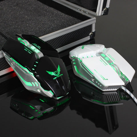 Image of ZERODATE X700 Mechanical Mouse Game Mouse Wired Optical 1600DPI/3200DPI Computer Gaming Mouse Black