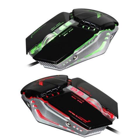 ZERODATE X700 Mechanical Mouse Game Mouse Wired Optical 1600DPI/3200DPI Computer Gaming Mouse Black