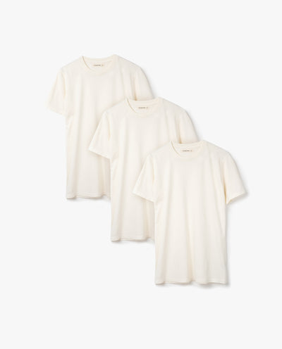 Men's Essential Tee (Bone 3-Pack)