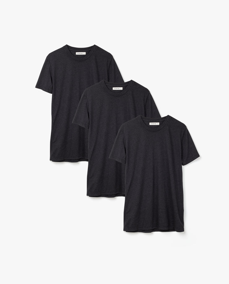 Men's Essential Tee (Black Triblend 3-Pack)