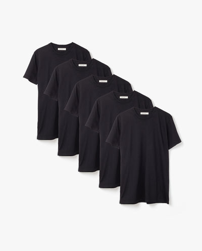 Men's Essential Tee (Black 5-Pack)