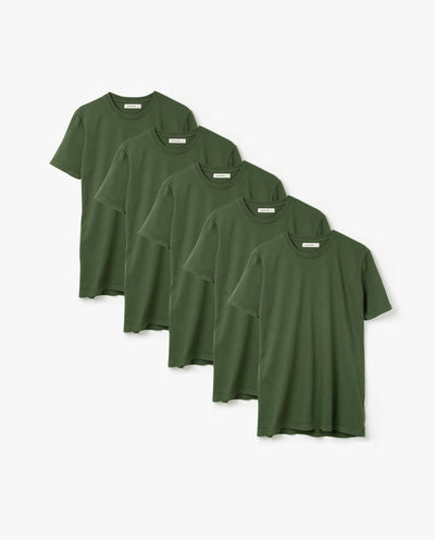 Men's Essential Tee (Olive 5-Pack)