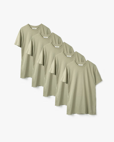 Men's Essential Tee (Sage 5-Pack)