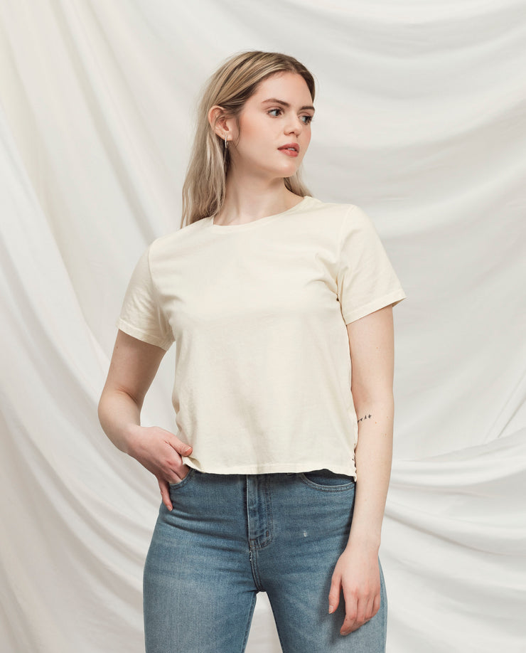 Women's Essential Tee (Standard Fit - Bone)