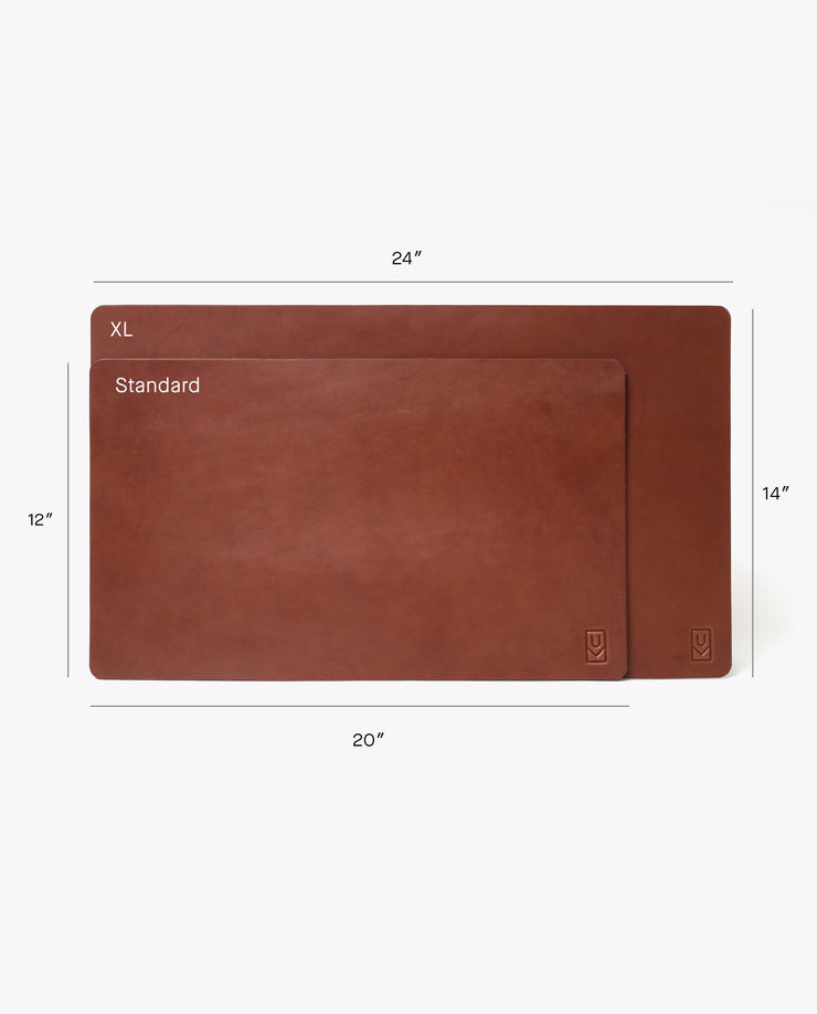 Leather Desk Pad XL (Ugmonk Logo - Brown)