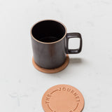 Leather Coasters (Enjoy the Journey - Set of 2 - Natural)