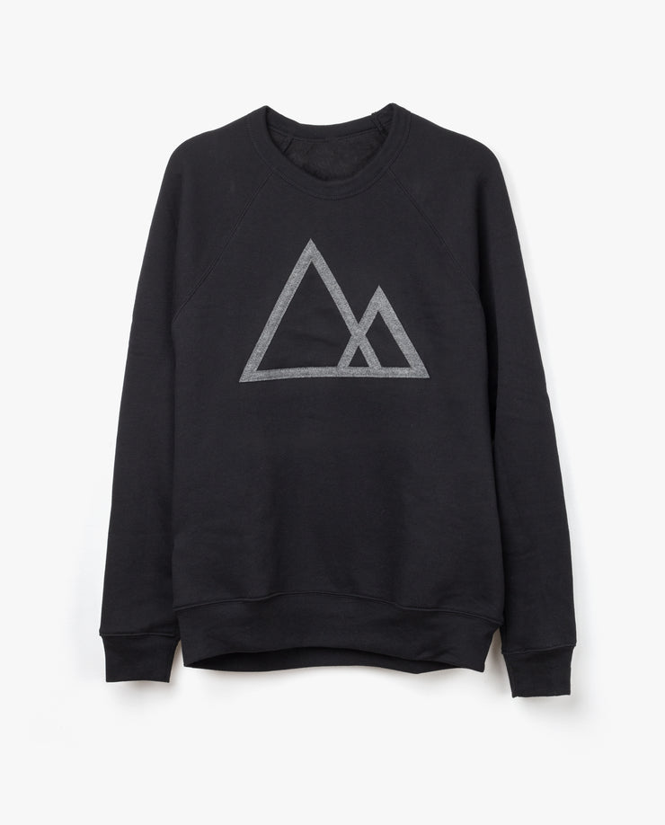 Mountains Crewneck (Black Series)