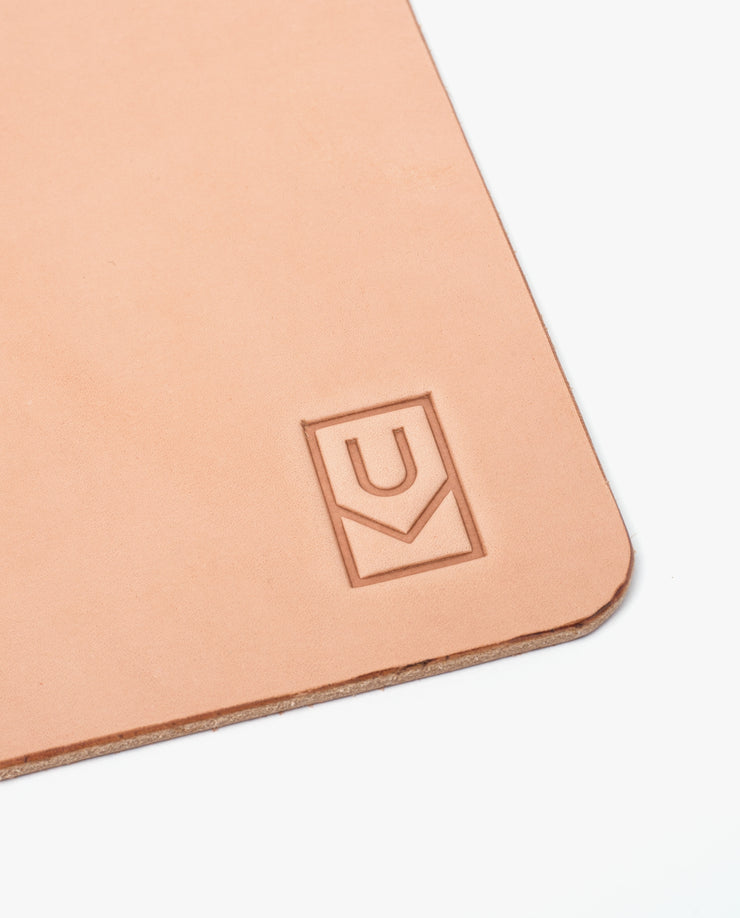 Leather Desk Pad XL (Ugmonk Logo - Natural)