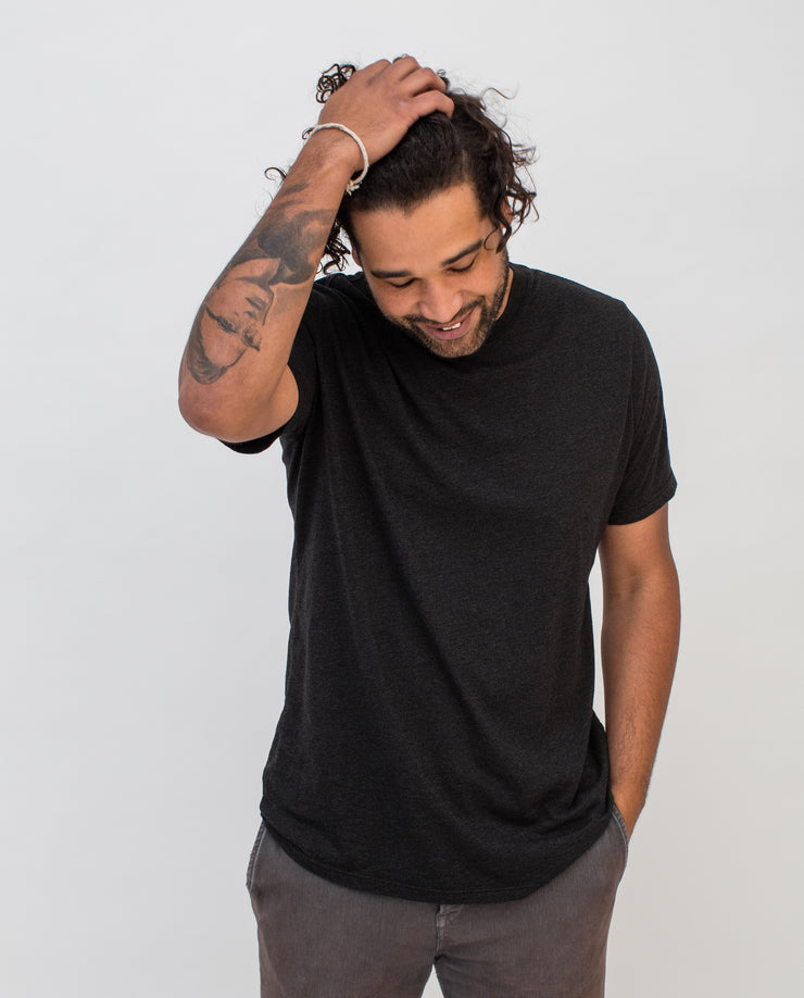 Men's Essential Tee (Black Triblend 5-Pack)