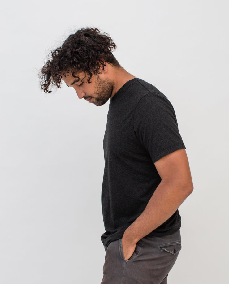 Men's Essential Tee (Black Triblend)