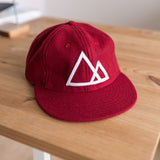 Mountains Baseball Cap (Burgundy)
