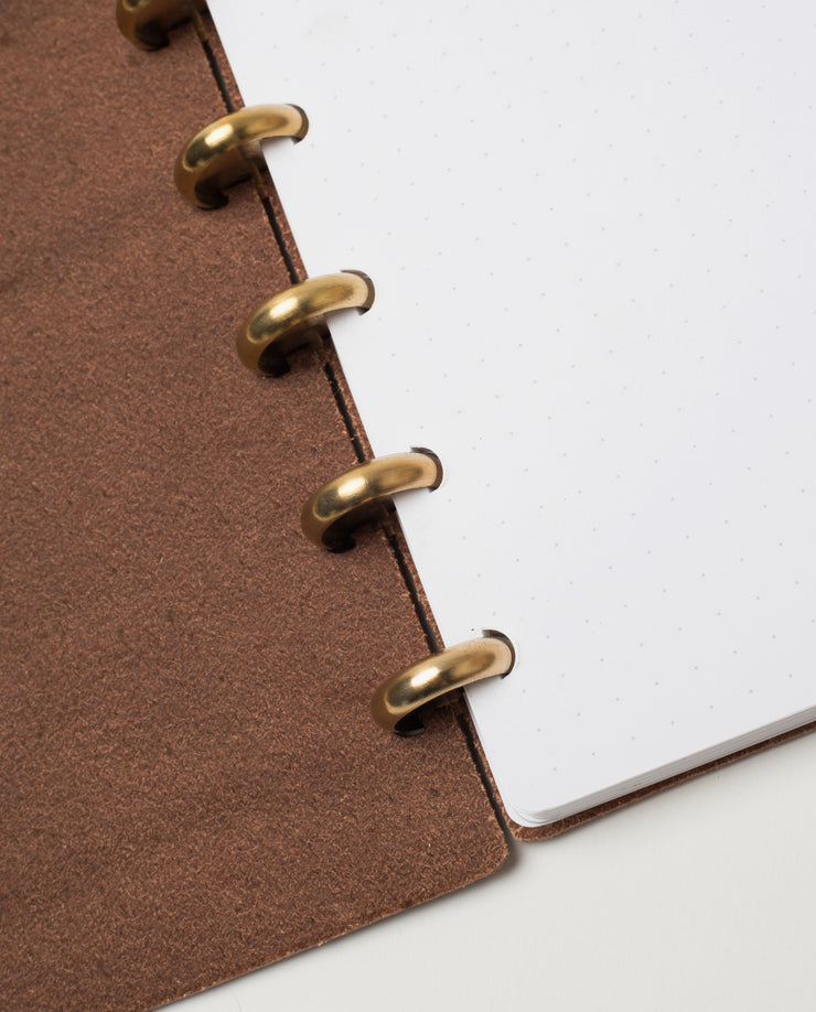 Discbound Heirloom Journal Bundle (Brown Journal + 3 Refills)