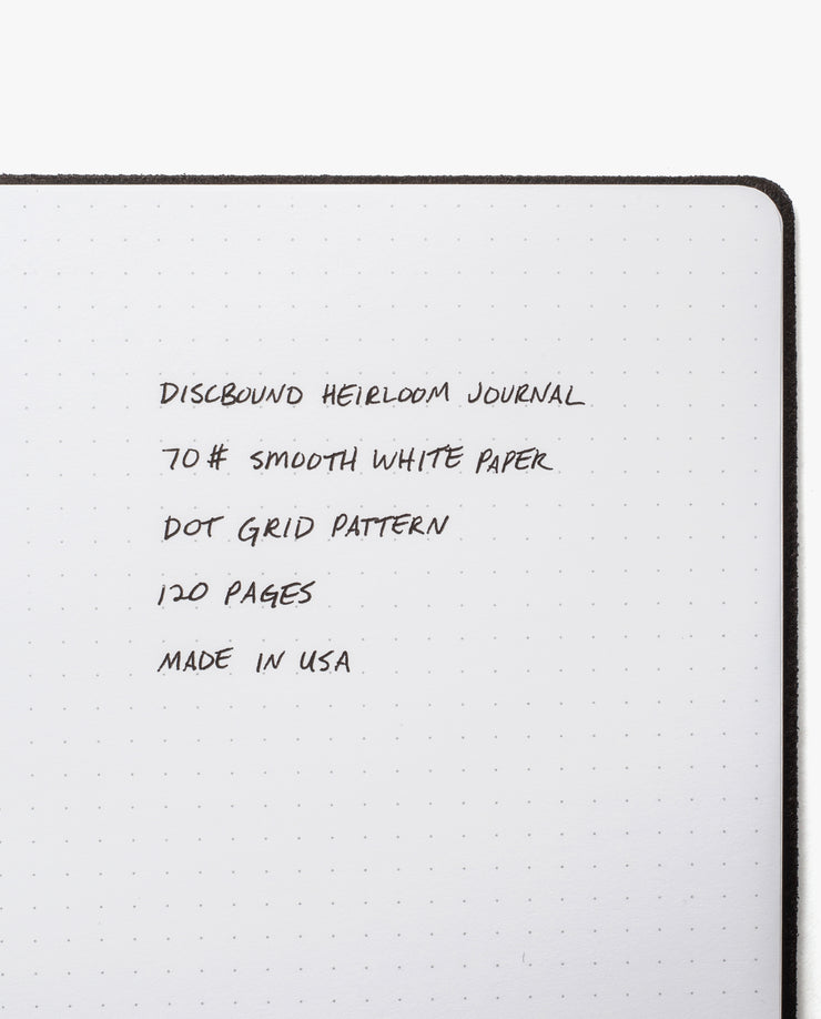 Discbound Heirloom Journal Bundle (Black Journal + 3 Refills)
