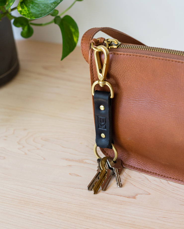 Leather Key Clip (Black)
