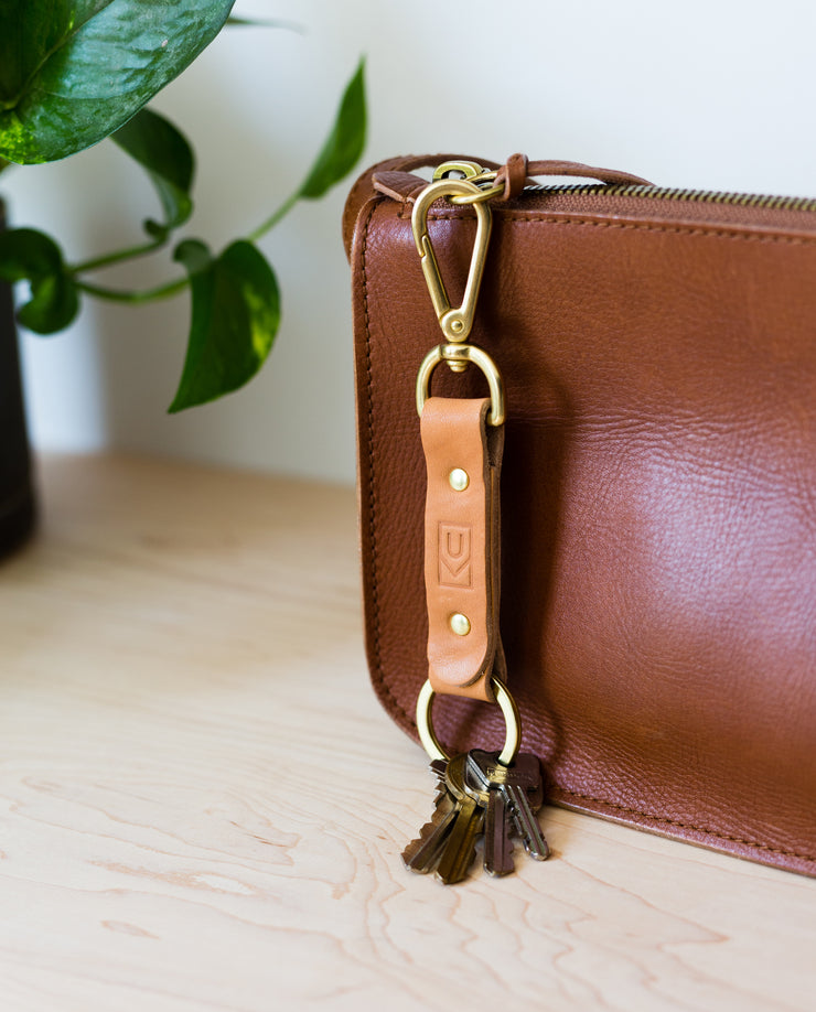 Leather Key Clip (Tan)