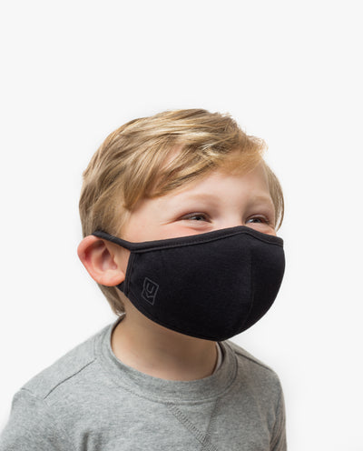 Kids Face Mask (Black - 5 Pack)
