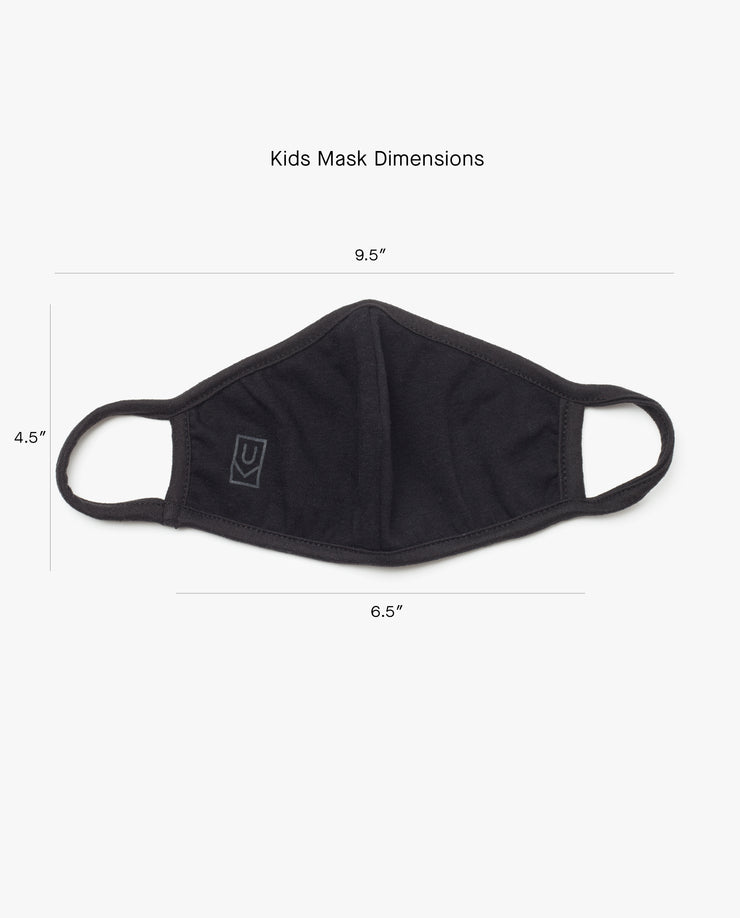 Kids Face Mask (Black - 3 Pack)